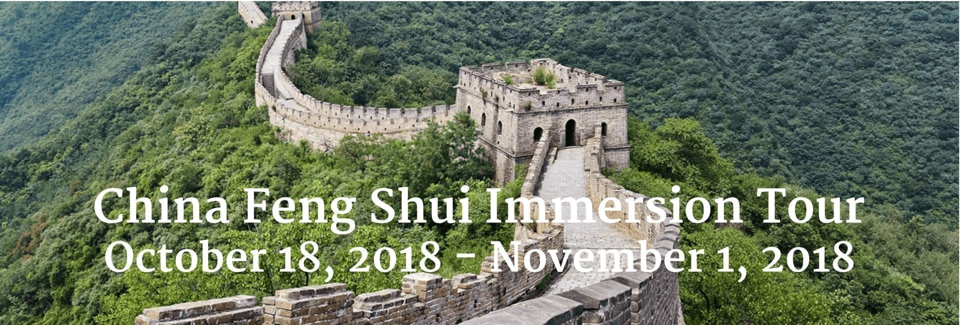 China Feng Shui Immersion Tour 2018 with Feng Shui Designs and the International Feng Shui Guild